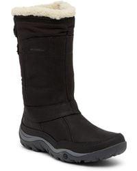 Merrell - Murren Mid Waterproof Faux Fur Trimmed Boot - Lyst