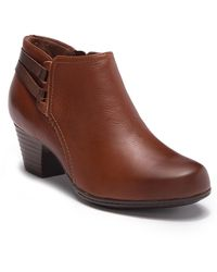 Clarks - Valarie 2 Ashly Leather Ankle Boot - Wide Width Available - Lyst