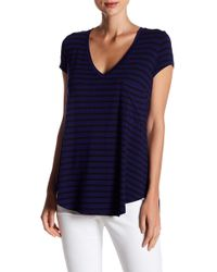 c99955cfb1ce6 Lyst - Heather by Bordeaux Short Sleeve V-neck Tee in Blue