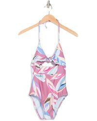 Splendid East Cape One-piece Swimsuit - Pink