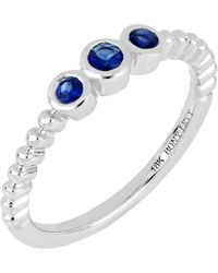 Bony Levy - 18k White Gold Sapphire Stack Ring - Lyst
