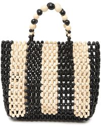 Alice + Olivia Zoey Wooden Beaded Bag - Multicolor