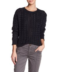 Marrakech Sarah Washed Cable Knit Sweater - Black