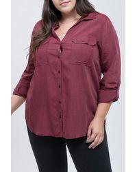 Blu Pepper Striped Long Sleeve Shirt - Multicolor