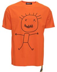 Xray Jeans Stick Man Relaxed Fit Graphic T-shirt - Orange
