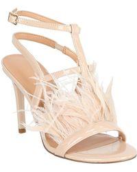 3df502a5216 Steve Madden Carabu Feather Suede Block Heel Dress Sandals in Purple ...