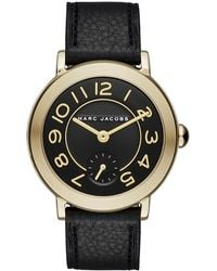 Marc Jacobs - Women's Riley Embossed Leather Strap Watch, 36mm - Lyst