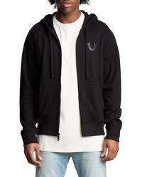 True Religion Tonal Graphic Zip Jacket - Black