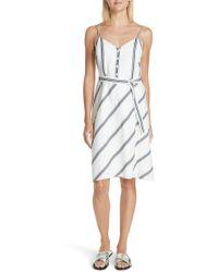 Rag & Bone - Doris Stripe Cotton & Linen Dress - Lyst