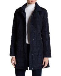 MICHAEL Michael Kors - Mid Length Belted Quilt Jacket - Lyst