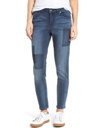 Caslon | (r) Patchwork Skinny Jeans (regular & Petite) | Lyst