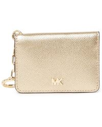 MICHAEL Michael Kors Key Ring Card Holder - Metallic