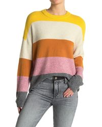 Madewell Crofton Stripe Pullover Sweater - Multicolor