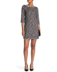 Max Studio - Tweed Pattern Boatneck Shift Dress - Lyst