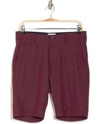 7 Diamonds Agility Mid Rise Shorts - Purple