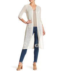 Lucky Brand - Lightweight Linen Blend Knit Duster - Lyst