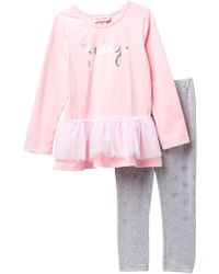 Juicy Couture - Tulle Bottom Tunic & Crown Print Leggings Set (baby Girls 12-24m) - Lyst