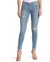 Joe's Jeans Mid Rise Distressed Skinny Ankle Jeans - Blue