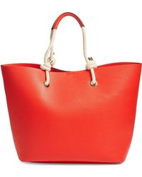 Phase 3 - Rope Handle Faux Leather Tote - Lyst