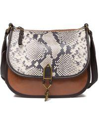 The Sak Playa Leather Saddle Bag - Multicolor