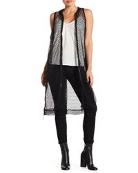 Steve Madden - Mesh Hooded Front Zip Cover Up - Lyst