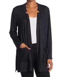Donna Karan - Heathered Patch Pocket Lounge Cardigan - Lyst