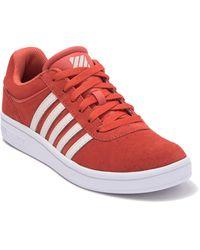 K-swiss Court Cheswick Sde Sneaker - Red