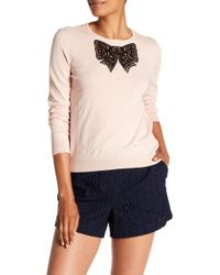 Cece by Cynthia Steffe - Lace Bow Accent Jumper - Lyst