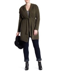 Naked Cashmere | Tess Hooded Cashmere Cardigan (plus Size) | Lyst