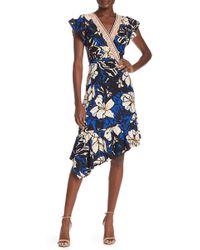cdb4064e Eci Lace-trim Sheath Dress in Blue - Lyst