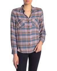 William Rast - Aidan Plaid Button Front Shirt - Lyst