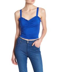 Lush - Knit Cropped Cami - Lyst