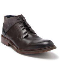 Zanzara Ike Leather Lace-up Boot - Gray