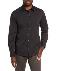 Zachary Prell Mulberry Regular Fit Shirt - Black