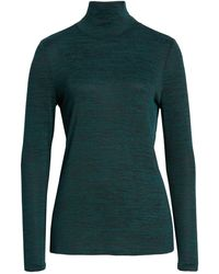 NIC+ZOE Every Occasion New Mock Top (emerald) Women's Clothing - Green