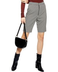TOPSHOP - Houndstooth Shorts - Lyst