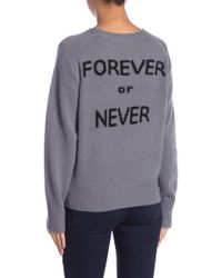 Skull Cashmere - Bowie Back Graphic Print Cashmere Sweater - Lyst