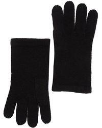 Phenix Cashmere Knit Gloves In 001blk At Nordstrom Rack - Black