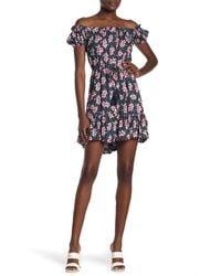 Tiare Hawaii Off-the-shoulder Floral Print Dress - Multicolor