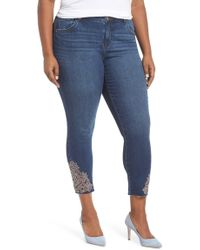 f91c0f8ab35 Wit   Wisdom - Embroidered High Waist Ankle Skimmer Jeans (plus Size)  (nordstrom