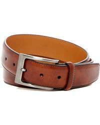 Magnanni Square Buckle Leather Belt - Brown