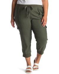 Caslon Linen Blend Sweatpants - Green