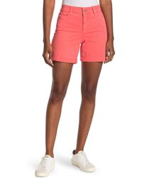 NYDJ Avery Colored Roll Cuff Denim Shorts - Multicolor