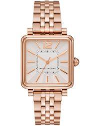Marc Jacobs - Women's Square Vic Bracelet Watch, 30mm - Lyst