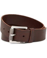 Frye - Panel Rolled Leather Belt - Lyst