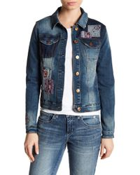 Vintage America - Lena Embroidered Denim Jacket - Lyst