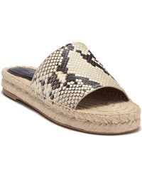 d57505a240a COACH - Claudia Lux Snake Embossed Slide Sandal - Lyst