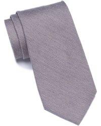 Calvin Klein - Woven Solid Silk Blend Tie - Lyst