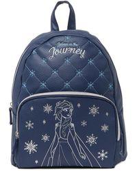 Danielle Nicole Elsa Quilt Backpack - Blue