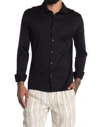 Reiss Chapter Mercerized Slim Fit Shirt - Black